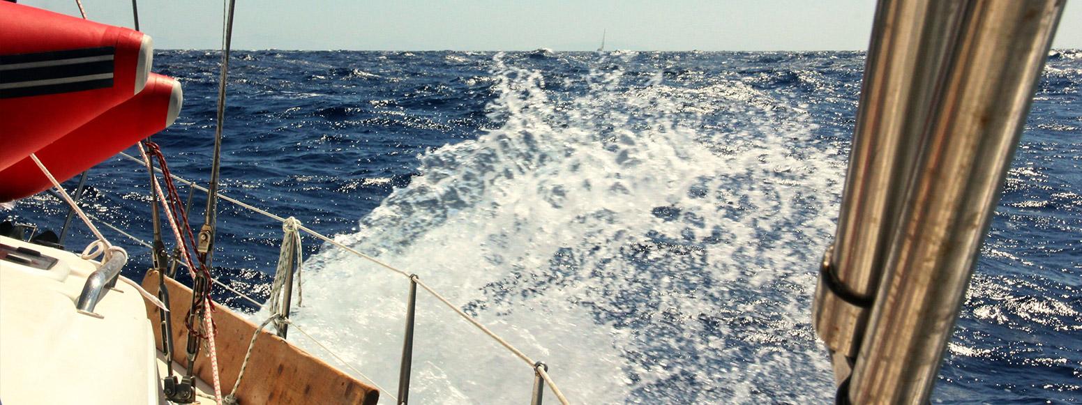 Wellen Wasser Yacht Spritzen