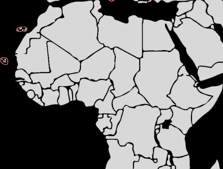 Segelreisen nach Afrika mir Sporedo Karte