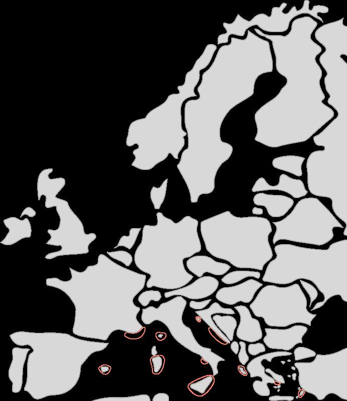 Segelreisen in Europa mit Sporedo Karte