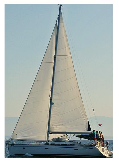 freigestellt Yacht Törnarten Sporedo