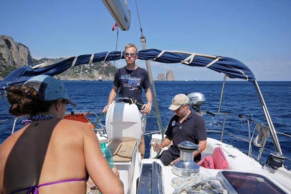 Steuern Yacht an Deck Sporedo