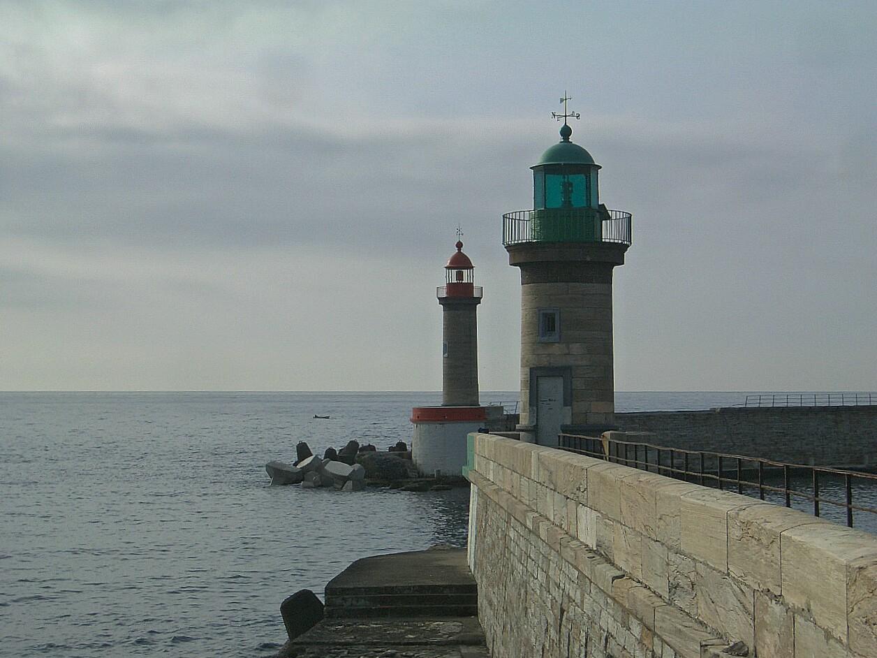 Leuchtturm Mauer Meer segeln