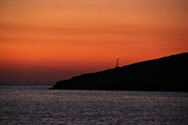 Sonnenuntergang Insel Meer