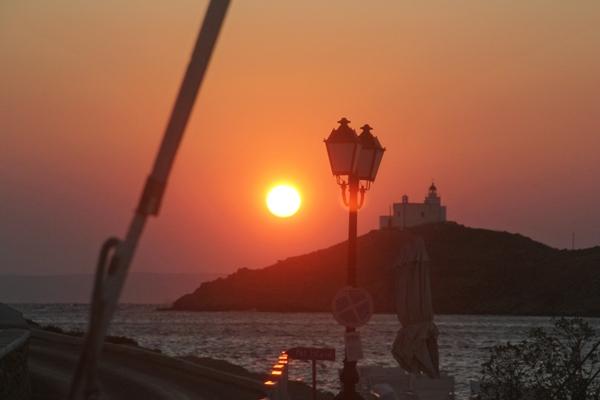 Sonnenuntergang Insel Natur Meer