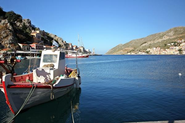 Boot auf Meer Natur blau