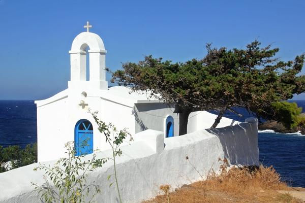 Kirche weiß Küste Natur