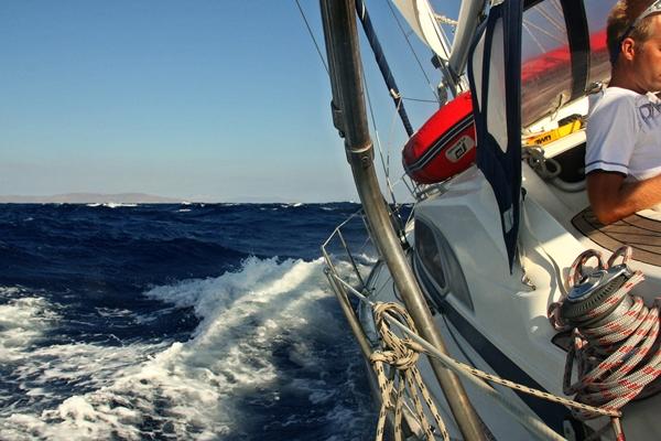 Yacht Kurve Deck Segeln