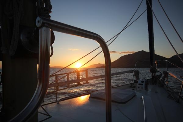 Abendtimmung Yacht Sonnenuntergang