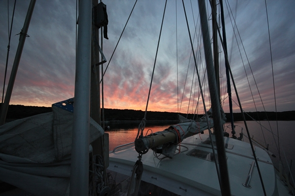 Sonnenuntergang Sporedo Yacht Segelreise