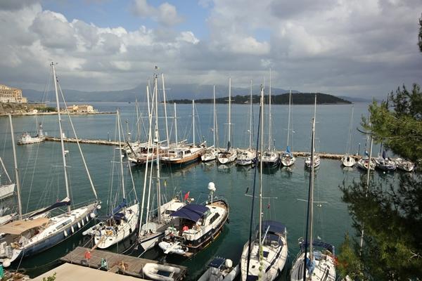 Korfu Hafen Anlegen Pier