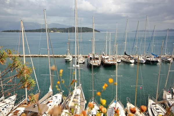 Korfu Hafen Yacht Anlegen Segeln