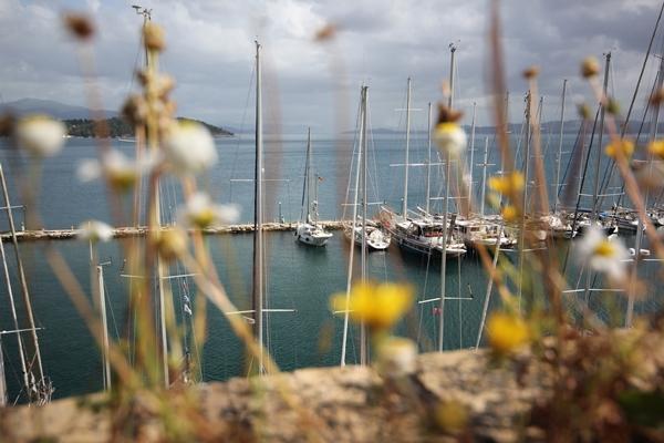 Korfu Anlegen Hafen Pier