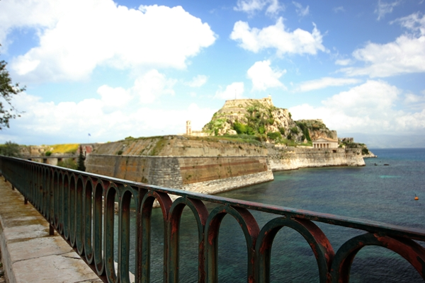 Korfu Pier Meer Natur