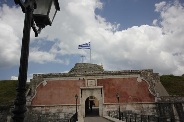 Korfu griechisch alt Gebäude