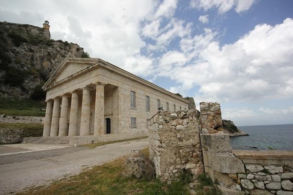 Küste Gebäude Sporedo Korfu