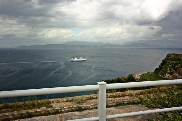 Blick auf Meer Segeln Yacht