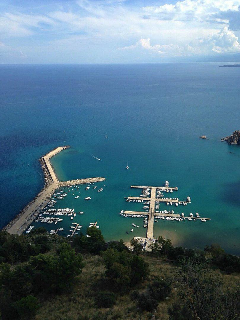 Hafen Anlegen Silzilien Meer