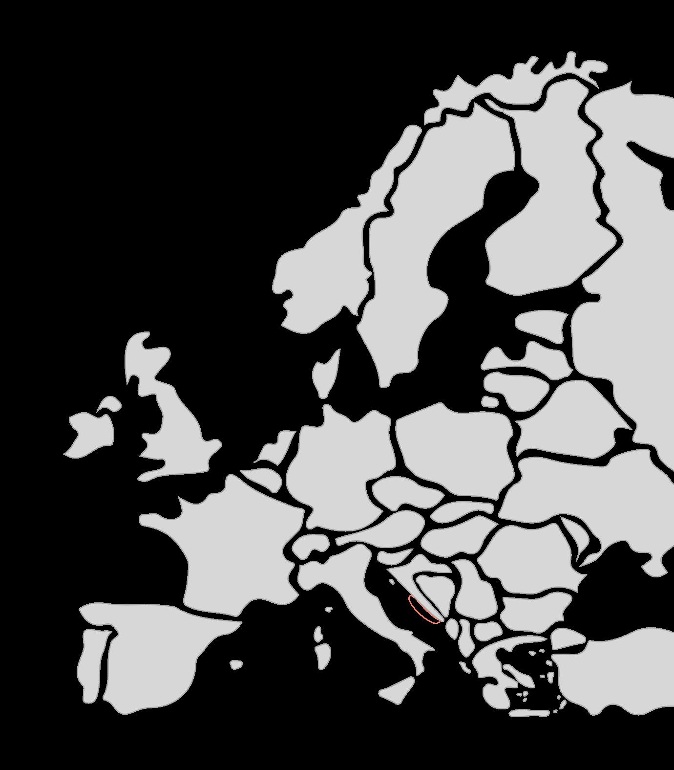 Karte Segelreisen Dalmatien