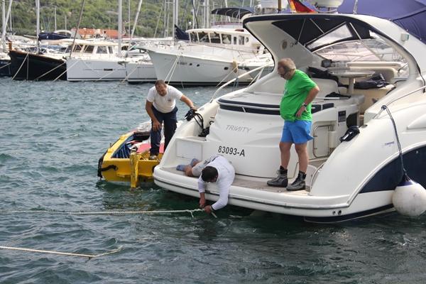 Anlegen im Hafen Skipper